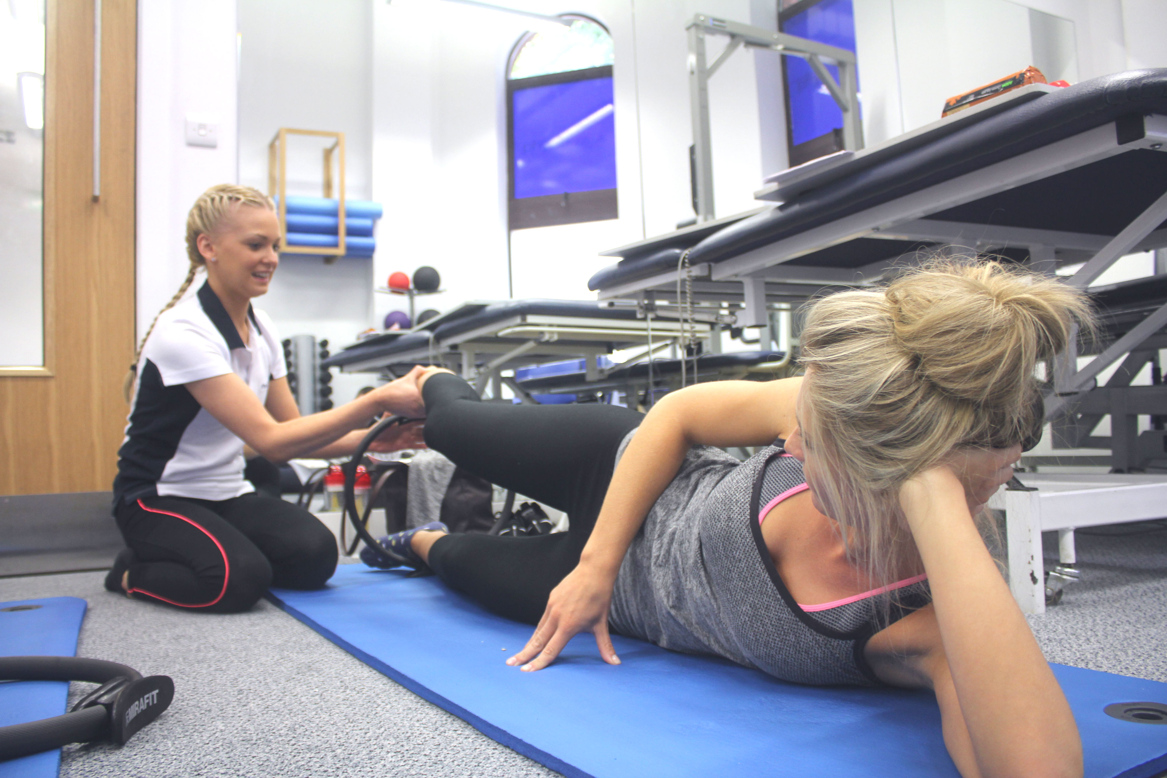 Pilates class with physiotherapist Kate