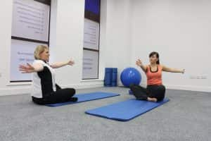 Controlling your breathing during Pilates