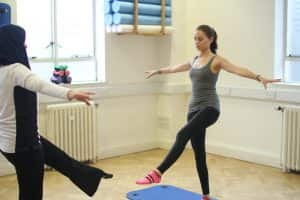 Pilates balance exercise